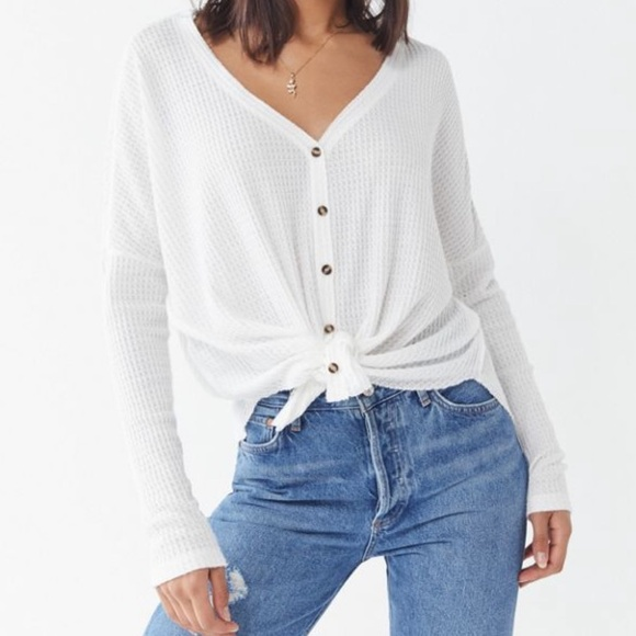 Urban Outfitters Sweaters - Urban Outfitters Oversized Button-Front Top